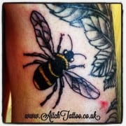 Bee tattoo Holmfirth Huddersfield