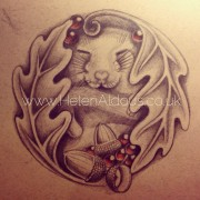 Dormouse asleep tattoo