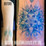 Scar Cover Up Tattoo By Helen Aldous